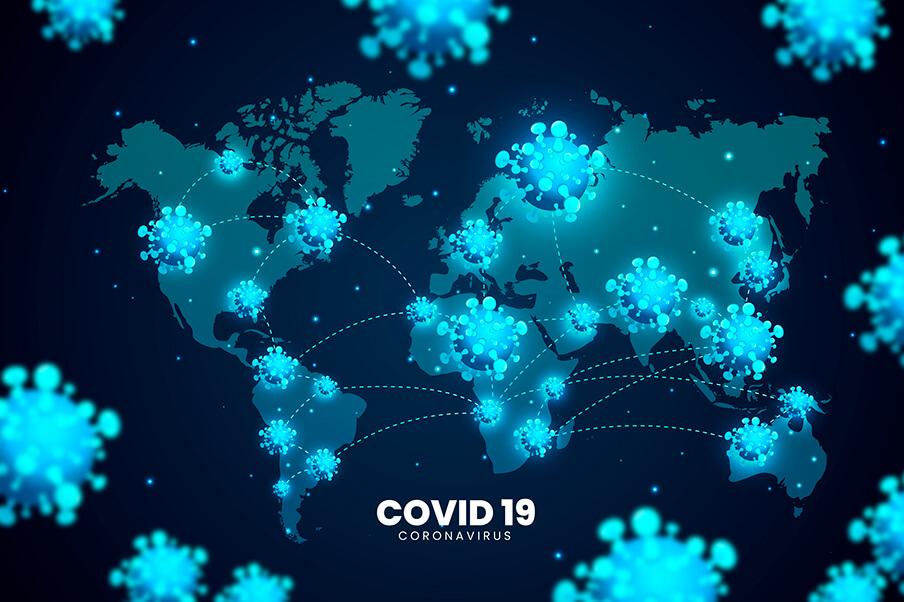 Conceito realista de coronavírus no mundo